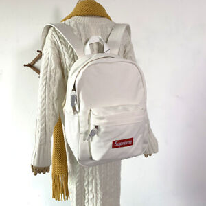 Brand NEW Supreme 20FW Canvas Backpack Waterproof Logo Mountaineering Bags Trave