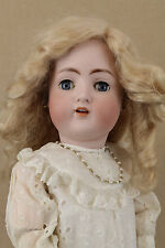 """23"""" Antique Bisque Head Composition German Doll ABG Sweet Nell with Mohair Wig"""