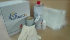 KIT VETRORESINA riparazioni (RESINA 1000ml + FIBRA VETRO 1,2 mq) - WAGA
