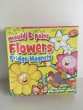 Mould And Paint Flowers Fridge Magnets Age 6+