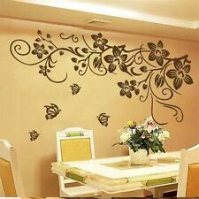Large Butterfly Flower Mural Art Wall Stickers Vinyl Decal Home Room Decor 2016