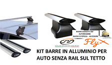 Fiat Bravo II 5p (07>14) Kit Barre Portatutto in Alluminio Fly NO RAIL SUL TETTO