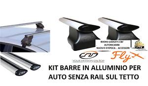 Chevrolet Matiz II 5p 05>09 Kit Barre Portatutto Alluminio Fly NO RAIL SUL TETTO