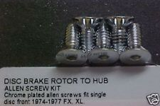 Harley,74-77 Sportster,FX,chrome front brake rotor bolts for single disc brake