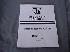 WISCONSIN   ENGINE S-7D INSTRUCTION, REPAIR & PARTS MANUAL BRAND NEW