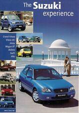 Suzuki 1998-99 UK Market Foldout Brochure Alto Wagon R Swift Jimny Vitara Grand