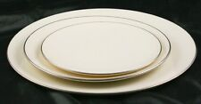 Lot of 3 Lenox Olympia PL. Platinum Rims Diner Salad & Bread Plate  k3g16