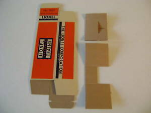 Lionel 3927 Track Cleaning Car Box w/two corrugated inserts