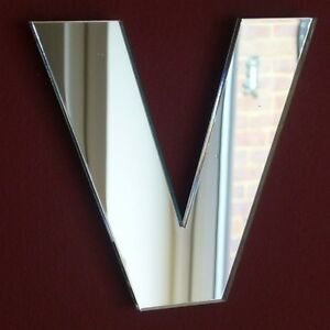 Contemporary Letter V Acrylic Mirror (Several Sizes Available)