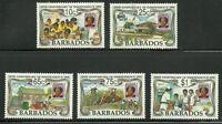Album Treasures Barbados Scott # 812-816 Independence Mint LH