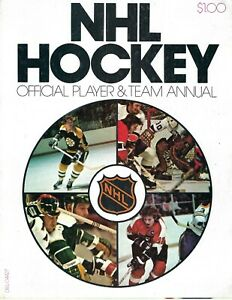 1973-74 NHL Player & Team Annual Hockey Magazine Bobby Orr Boston Bruins Clarke