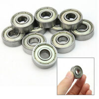 10Pcs 8 x 22 x 7mm Sealed Shielded Deep Groove Ball Bearing Skateboard 608z TYF