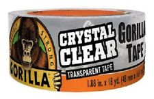 "Gorilla Glue, 1.88"" x 18 YD, Crystal Clear, Transparent Gorilla Tape"