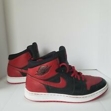 Nike Air Jordan Alpha 1 I Retro Black/Red Bred 392813 001 Sz 10.5