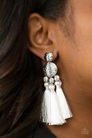 Paparazzi Jewelry Earring ~TAJ MAHAL TOURIST - WHITE