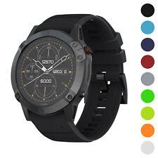 StrapsCo Silicone Rubber Watch Band Strap for Garmin Fenix 3, Fenix 5X, Fenix 6X