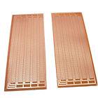 US Stock 2pcs Prototype PCB Universal Bread Board 8.5x20cm Sigle Side Copper