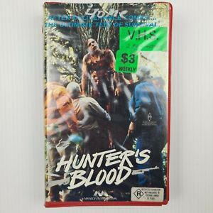 Hunter's Blood VHS Tape - 1986 Horror - TRACKED POSTAGE - Ex Rental