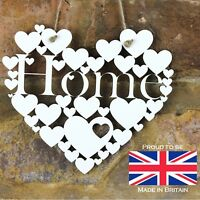 Home White Love hanging heart decoration House warming gift sign art