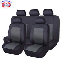 PU Leather Seat Covers Set Universal car SUV Van gray Color 11 PCS Full Set