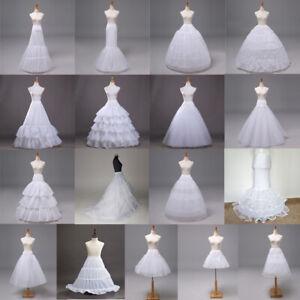 17 Modell Petticoat Unterrock Kleid Unterkleid Reifrock Ringe Brautkleid Weiß DE