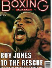 ROY JONES BOXING MONTHLY MAGAZINE NO LABEL BOXING 7/1998