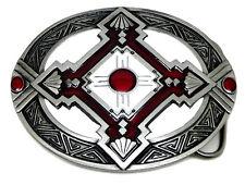 Escudo tribales aztecas Hebilla de cinturón auténtico Bergamota el producto Foundry Fine Art