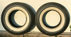 VINTAGE PAIR OF WIDE WHITE WALL TIRES COMMANDER G78 14 GOOD USED BIAS PLY