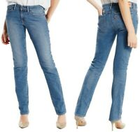 Levi's Damen Jeanshose 714 Straight Mid Rise Blau W23 L32