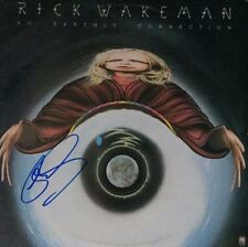 RICK WAKEMAN Signed Autographed NO EARTHLY CONNECTION Vinyl Record LP YES