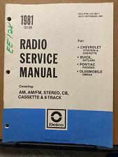 1981 Delco Radio Service Manual for Chevy Buick Pontiac Oldsmobile Skylark + Car