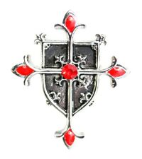 Masonic, Knights Templar Shield Cross Pendant & Chain Jerusalem Cross Talisman