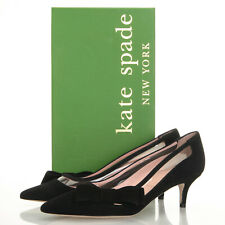 ea49e0924d2c Kate Spade Mackensie Black Suede Bow Pointed Toe HEELS - Size 6 M