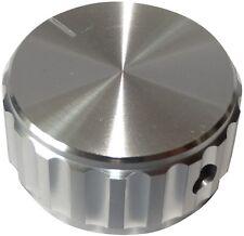 Bouton de potentiomètre pour axe lisse 6.35mm Ø30x15mm aluminium Couleur: argent