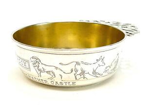 International Sterling Silver Handled Child's Bowl, Gilt Interior #62614