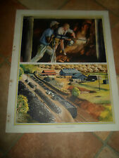 MINING IN SOUTH AFRICA (Vintage / Retro) Macmillan Educational Picture  #93