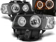Headlights for VW T4 96-03 BUS Angel Eyes Black WorldWide Free Shipping! XLPVW28