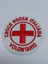 TOPPA PATCH RICAMATA VOLONTARIO CROCE ROSSA ITALIANA CRI  SANITà C.R.I. GRANDE