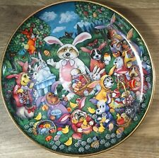 Franklin Mint A DOGGONE EGG-STRAVAGANZA decorative plate by Bill Bell No SA2995