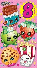 SHOPKINS Age 8 Hoy / 8th Tarjeta Cumpleaños Infantil Niña tarjeta cumpleaños