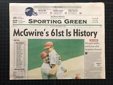 San Francisco Chronicle Saint Louis Cardinals Mark McGwire 61 Home Run Record