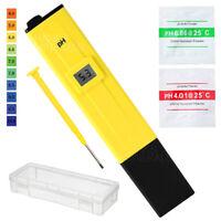 Digital PH Meter Tester Portable Pocket Water Pool Aquarium Wine Hydroponic