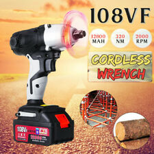 12 Led Cordless Electric Impact Wrench Rattle Nut Gun With 12800ma Battery