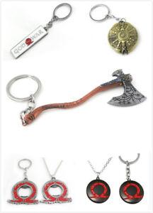 God of War 4 Keyring Kratos Leviathan Axe/Shield/Sword Keychain Pendant Necklace