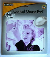 Optical Mouse Mat - MARILYN MONROE Picture Mouse Mat - FELLOWES QUALITY - NEW