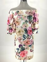 Prelude NWT Elegant Women's on/Off Shoulder Balloon Sleeves Dress size XS, S