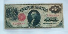 $ 1 Dollar Banknote SERIES 1917  LARGE SIZE   RED SEAL   (( F ))
