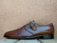 TO BOOT NEW YORK Mens Dress Shoes Brown Leather Italian Buckle Loafers Size 9.5M