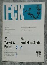 Programm Karl Marx Stadt VORWÄRTS Berlin 1967 Chemnitz CFC DDR V.Frankfurt/O