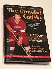 GORDIE HOWE & BILL GADSBY SIGNED The Grateful Gadsby BOOK Detroit Red Wings